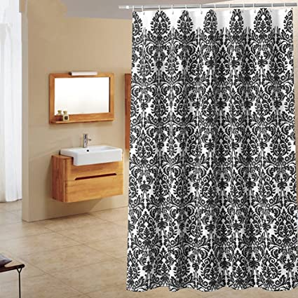 Amazon.com: BAIHT HOME Black and White Baroque Print Waterproof ...