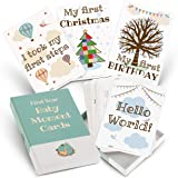 Milestone Cards for Baby Shower Gifts – Large 50 Card Set in Keepsake Box - Capture and Personalise Cherished Moments…