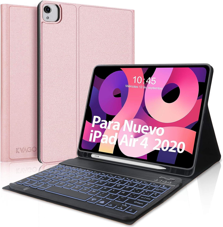 Teclado para iPad Air 4 10.9 Pulgadas 2020, Funda con Teclado ...