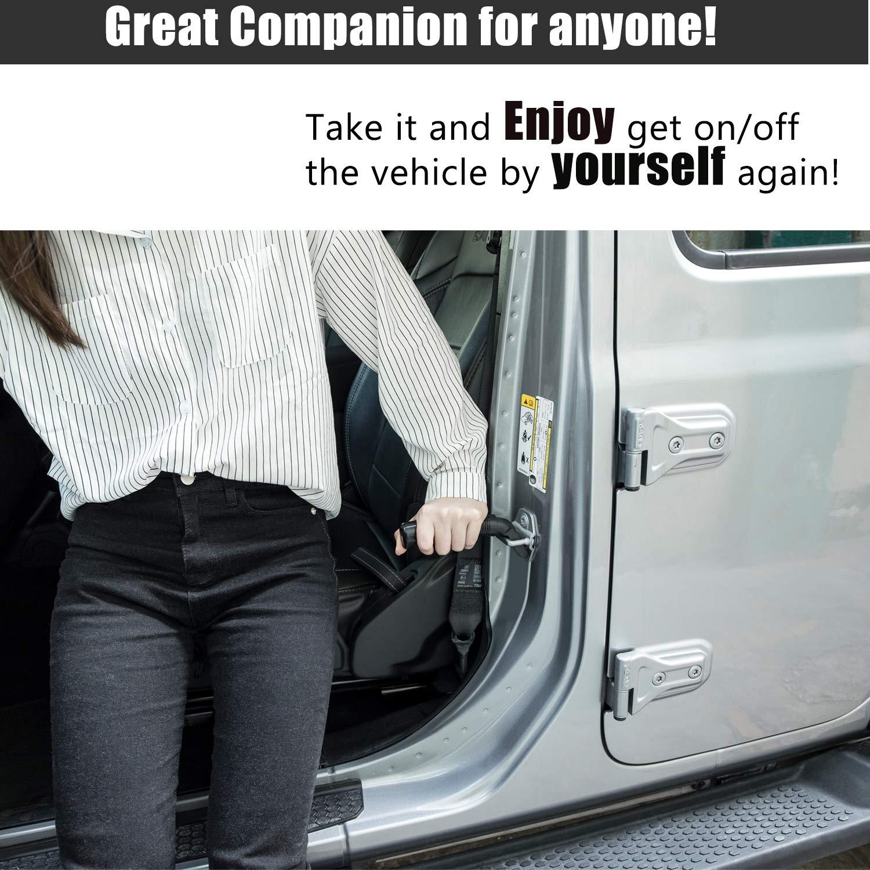 Universal Auto Cane Mobility Aid Car Handle Cane Vehicle Stand Assist Grab Bar Handle Black
