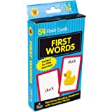 Carson Dellosa - First Words Flash Cards - 54 Cards for Phonics, Sight Words, Letter Recognition, Early Development for Preschool Toddler Ages 4+