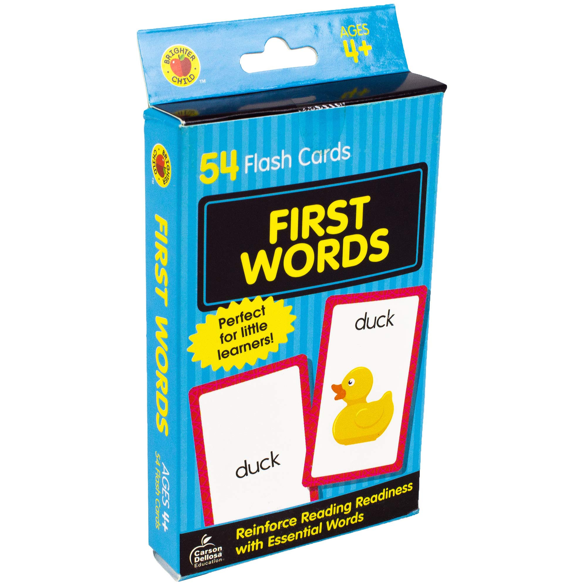 Bright Kids Who Cant Keep Up Cost Of >> Amazon Com Carson Dellosa First Words Flash Cards 54