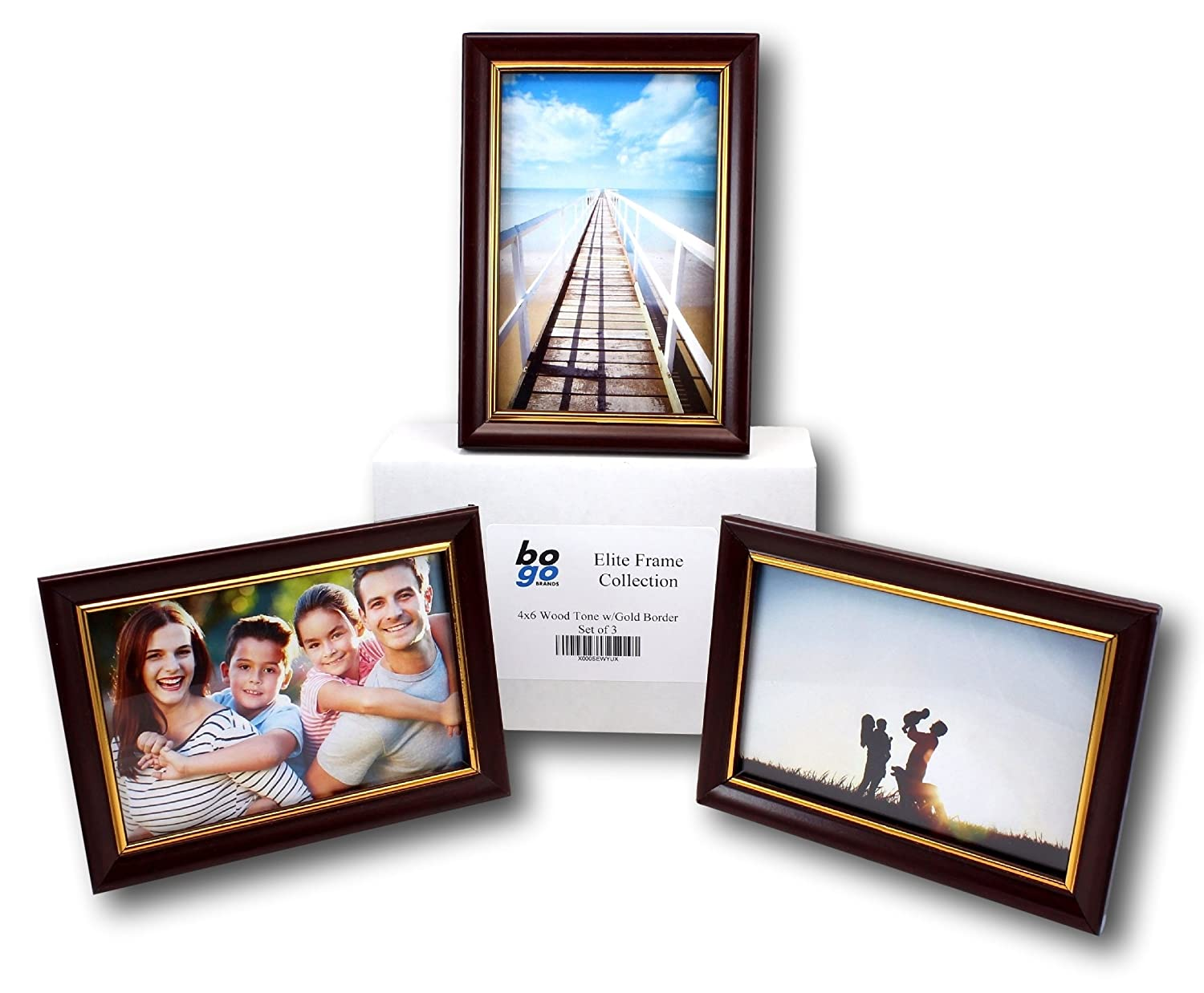 Amazon set of 3 4x6 inch picture frame value pack by bogo amazon set of 3 4x6 inch picture frame value pack by bogo brands jeuxipadfo Gallery