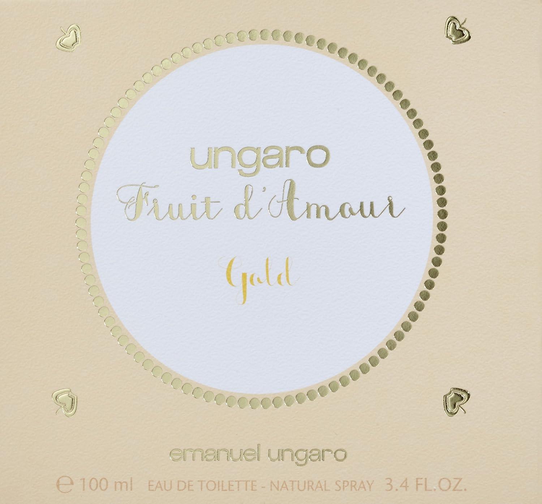 Emanuel Ungaro Fruit DAmour Gold Eau de Toilette 100ml Spray: Amazon.es: Belleza