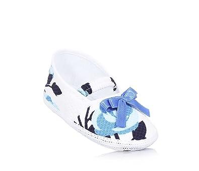 BABY VIP - Ballerine de berceau blanche en tissu, made in Italy, bébé fille