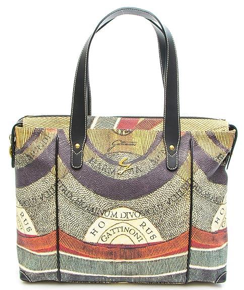78ca5e549a Gattinoni Borsa Donna Planetarium Square Double Handle Bag: Amazon.it:  Scarpe e borse
