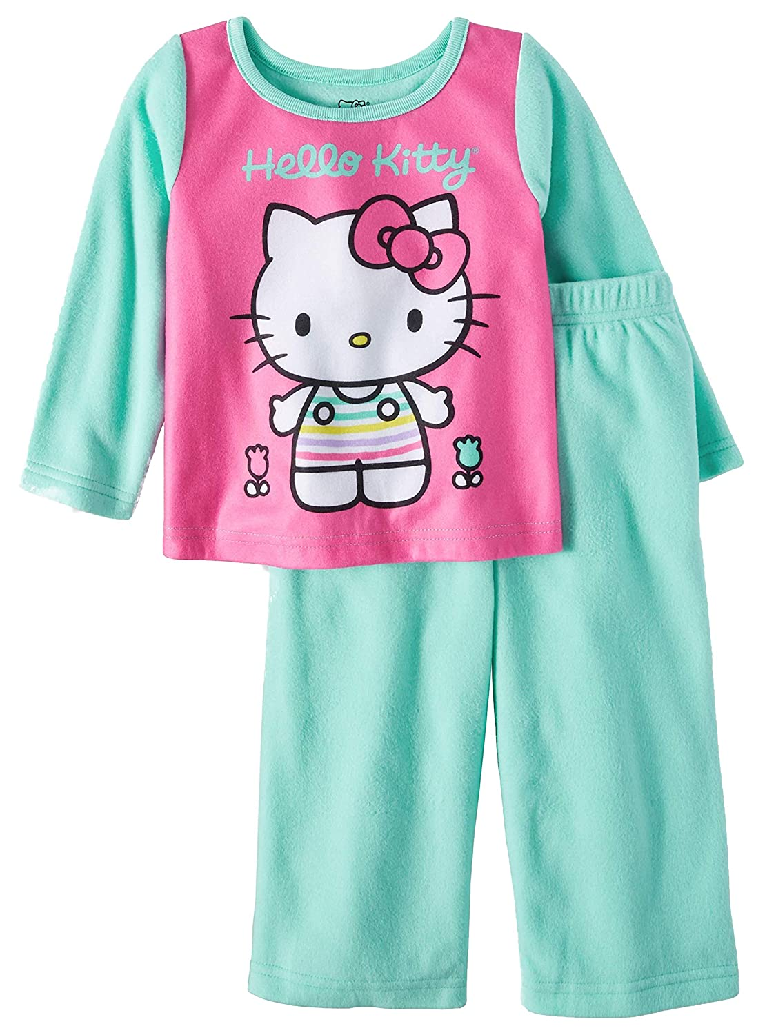 d68196b6b Amazon.com  Hello Kitty Toddler Girls 2 Piece Sleepwear Pajama Set ...