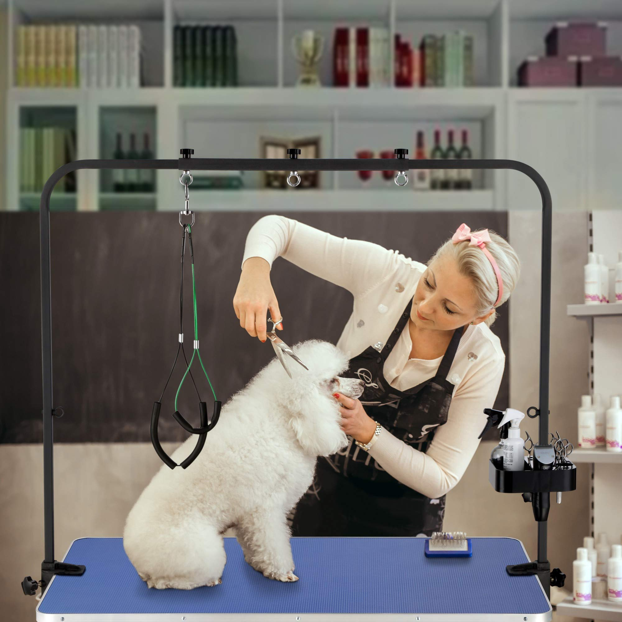 """ITORI 46"""" Professional Grooming Table for Dog and Pet which is Foldable and Durable with Adjustable Arm, Stainless Leg Frame, Extra Tool Holder and Extra Hauch Holders by ITORI (Image #7)"""
