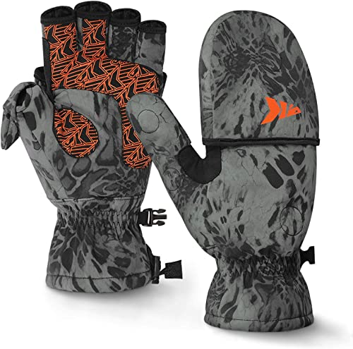 Cold Weather Ice Fishing Gloves (Convertible Mittens) [KastKing] Picture