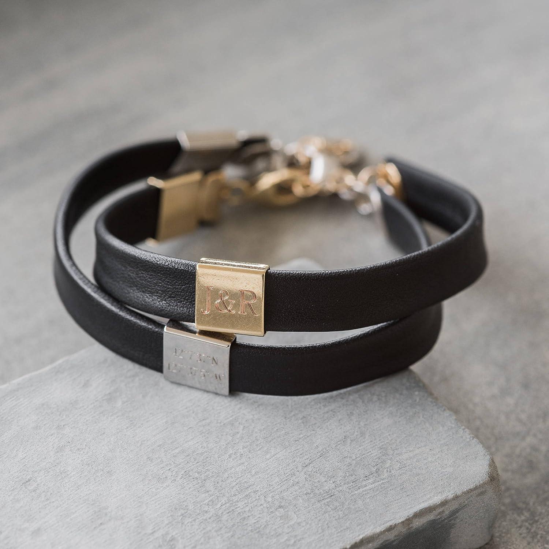 Personalized Coordinates Bracelet - Personalized Initilas Bracelet - Personalized Leather Bracelet - Men's Personalized Bracelet - Men's Engraved Bracelet - Men's Custom Bracelet - Personalized Name Bracelet - Custom Name Bracelet - Personalized Jewelry -