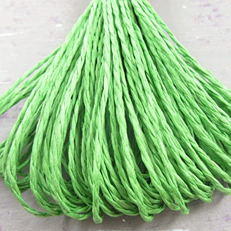 Blue T2108 25 METRES Paper Cord Raffia Twine Craft Rope String 1.5mm Approx 15 Colours