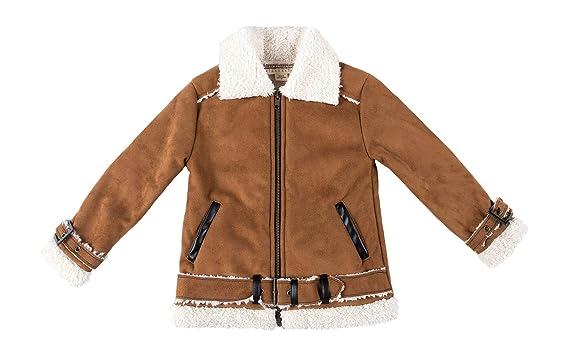 2e359b0b1 Amazon.com  Kinderkind Kids Toddler Shearling Jacket  Sizes 2T-3T-4T ...