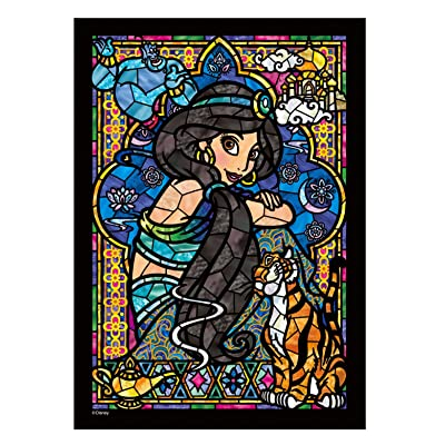 266-piece jigsaw puzzle Stained Art Aladdin Jasmine stained glass tightly series (18.2x25.7cm): Juguetes y juegos