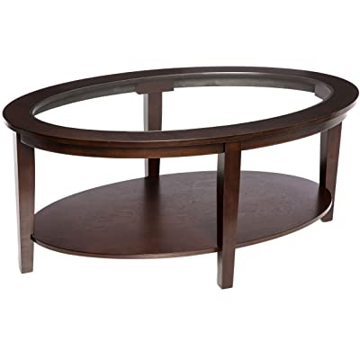 Amazoncom Traditional Oval Piece Table Set Includes Coffee - 3 piece oval coffee table set