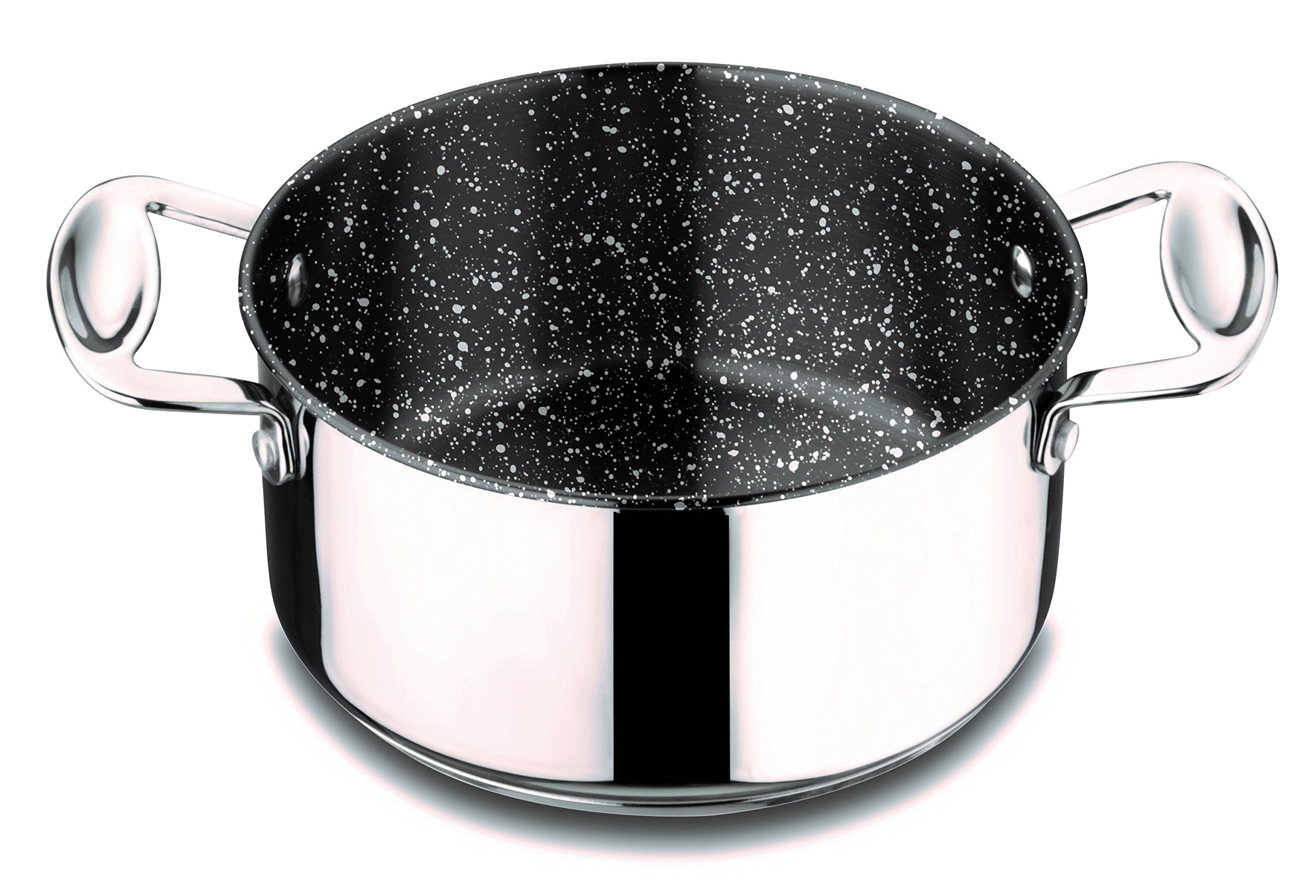 Mepra 30212122 Glamour Stone Casserole with Lid, 22cm, Stainless Steel