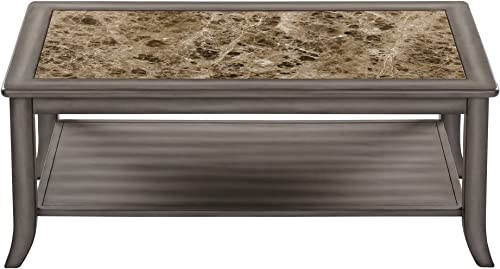 SLEEPLACE Genoa Rectangular Light Grey coffee Table