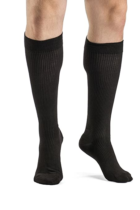 aa79964ecf Amazon.com: SIGVARIS Men's Casual Cotton 186 Calf High Compression ...