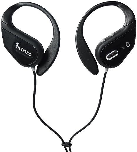 Avenzo AV603NG - Auriculares deportivos con Bluetooth, color negro