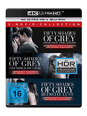 Fifty Shades Of Grey 3 Movie Collection 4k Ultra Hd Blu Ray 2d