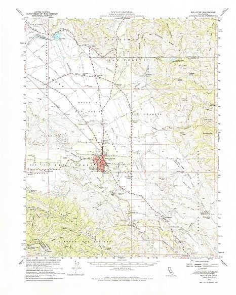 Amazon Com Yellowmaps Hollister Ca Topo Map 1 62500 Scale 15 X 15