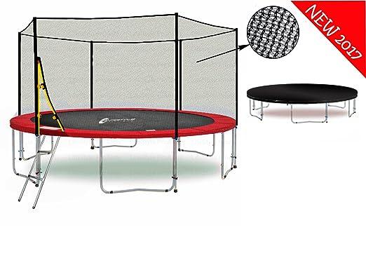 "2 opinioni per LS-T400-PA13 (RW) LifeStyle ProAktiv Trampolino da giardino 400cm ""Extra Strong"