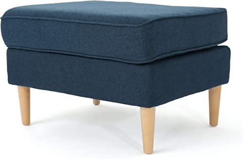 Christopher Knight Home Milton Mid-Century Modern Fabric Ottoman