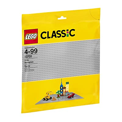 LEGO Classic Gray Baseplate 10701 Building Toy compatible with Building Bricks for Kids Play (1 Piece): Toys & Games