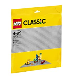 LEGO Classic Gray Baseplate 10701 Building Toy compatible with Building Bricks for Kids Play