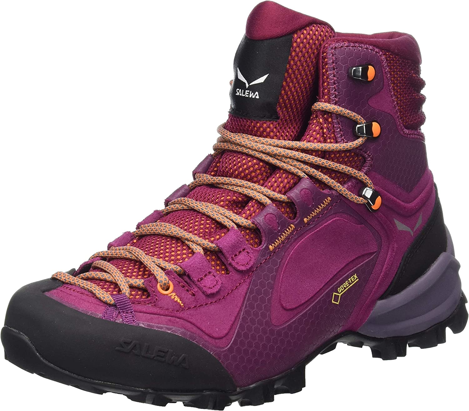 Salewa Women s High Rise Hiking Boots, Ombre Blue Fluo Coral, 6.5 us