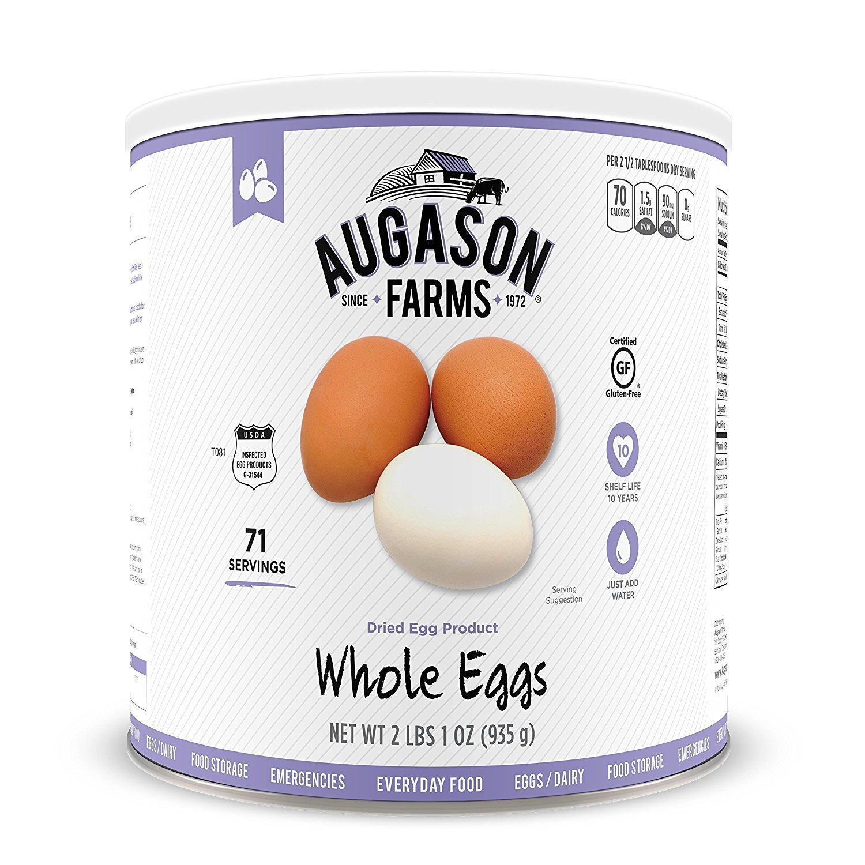 Augason Farms Whole Egg Product 33 oz #10 Can (2)