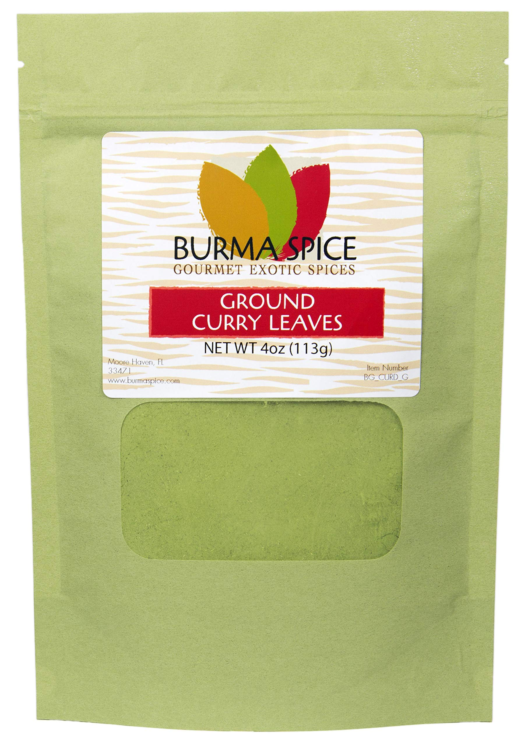 Ground Curry Leaves, Powder : Indian spice also used in Ayurvedic medicine (4oz.)