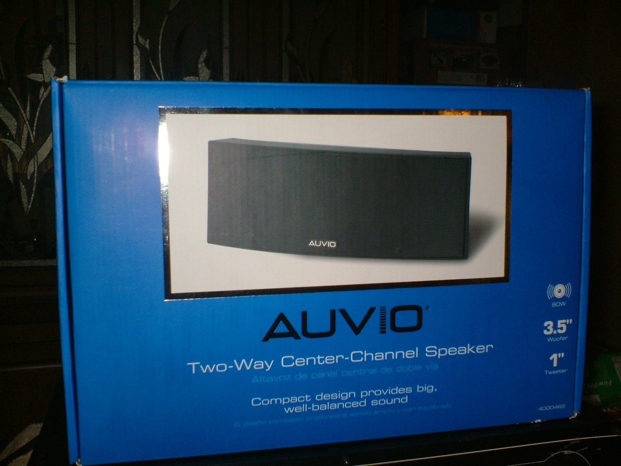 AUVIO 2-Way Center-Channel Speaker