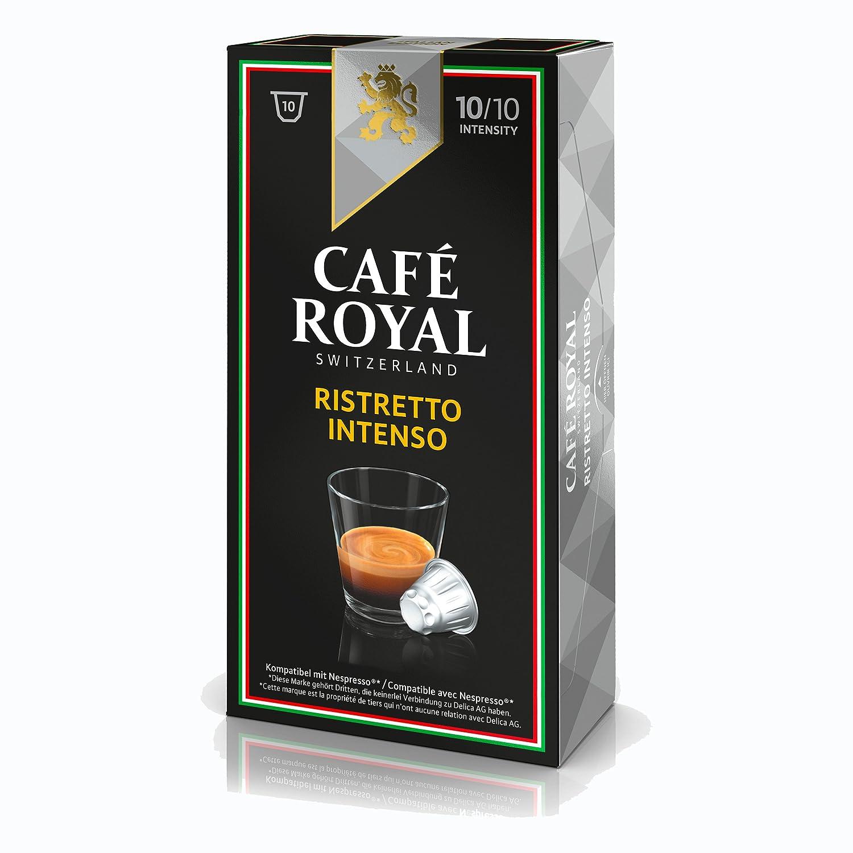 Café Royal IE Ristretto Intenso Kaffee, Röstkaffee, Kaffeekapseln, Nespresso Kompatibel, 10 Kapseln