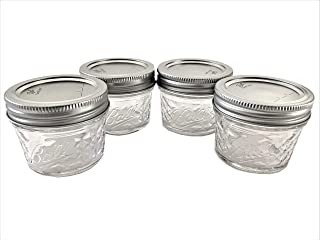 product image for Mason Ball Jelly Jars-4 oz. each - Quilted Crystal Style-Set of 4