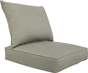 BOSSIMA Outdoor Patio Cushions Deep Seat Chair Cushions Sunbrella Furniture Cushions Spectrum Dove
