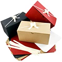 Colored Gift Boxes 9 x 4.5 x 4.5 inch Set of 10 Including Pull Bows and Tissue Paper. Perfect to Wrap Presents. Ideal for Christmas, Baby Clothes, Bathing Products, Cupcakes, Cookies and Other Gifts.