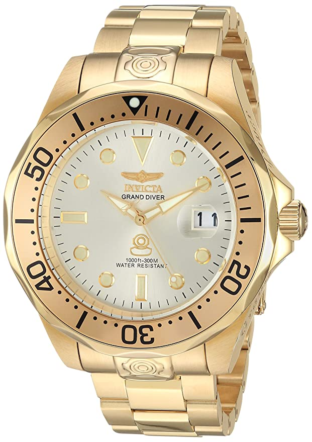 Invicta Mens Analogue Classic Automatic Watch with Stainless Steel Strap 3051