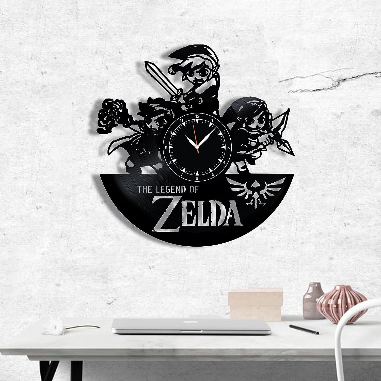 SofiClock The Legend of Zelda Vinyl Record Wall Clock 12 , The Best Gift for Decor C C C
