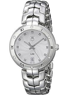 ee6dddfdc29 TAG Heuer Women s WAT1312.BA0956 Link Analog Display Swiss Quartz Silver  Watch
