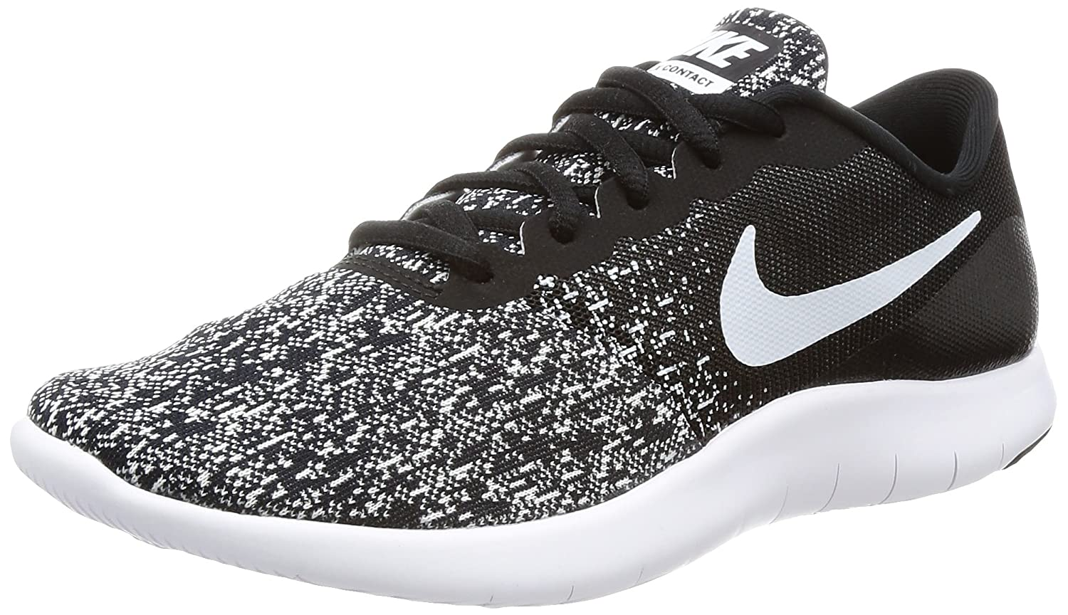 cheap for discount 6772b 717d0 Amazon.com   Nike New Womens Flex Contact Running Shoe Black White 7   Road  Running