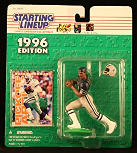 Starting Lineup DEION SANDERS / DALLAS COWBOYS 1996 NFL Action Figure & Exclusive NFL Collector Trading Card