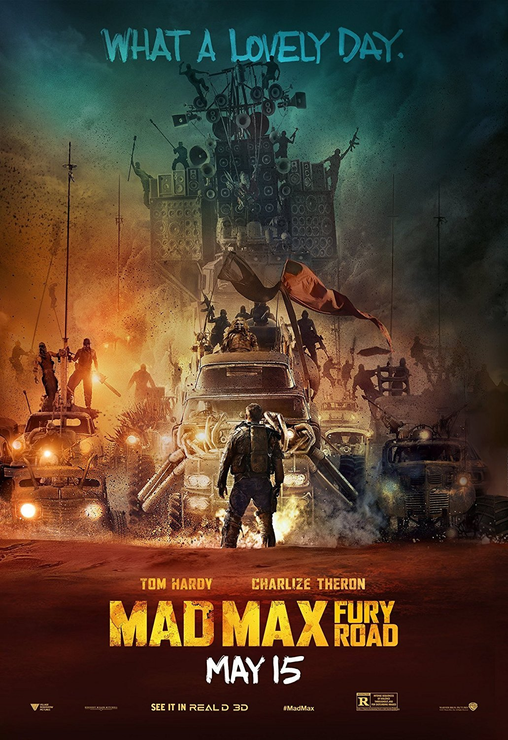 Mad Max: Fury Road Movie Poster 2015 24x36