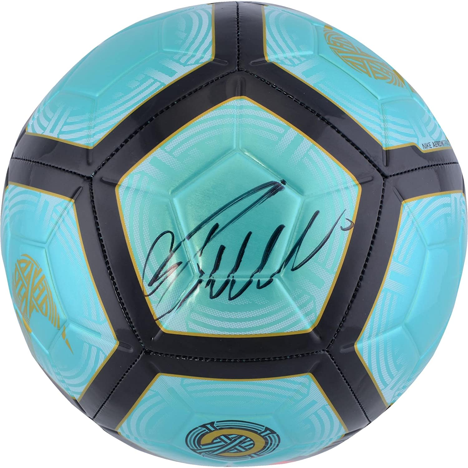 760a34f7a6 Cristiano Ronaldo Juventus F.C. Autographed Teal Nike Mercurial Soccer Ball  - Fanatics Authentic Certified