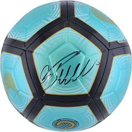 finest selection bfe30 fbf6b Cristiano Ronaldo Juventus F.C. Autographed Teal Nike Mercurial Soccer Ball  - Fanatics Authentic Certified