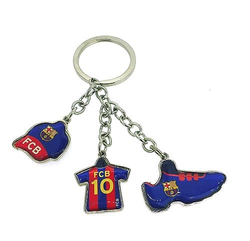 Llavero Fútbol Club Barcelona Camiseta Gorra y Bota de Fútbol Producto Oficial