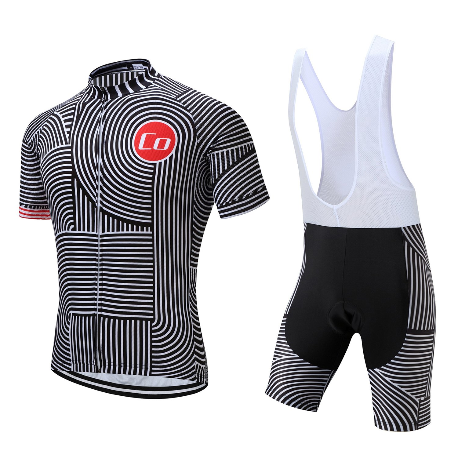 Coconut Ropamo Summer Men's Cycling Jersey Road Bike Jersey Cycling Bib Shorts with 4D Padded Cycling Kits for Men (XL,1018) by Coconut Ropamo