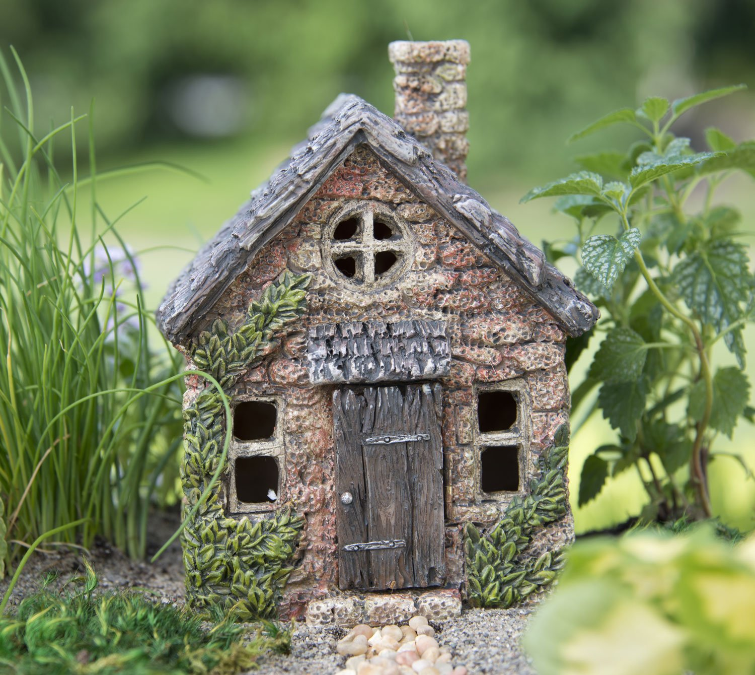 amazoncom miniature fairy garden house mini bucklin cottage garden outdoor - Cottage Houses Photos