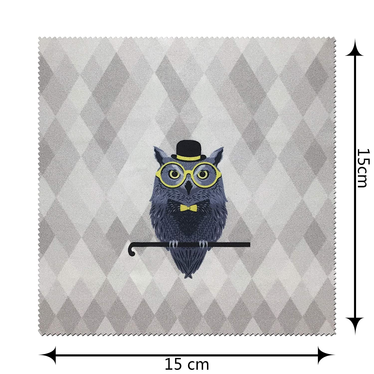 Cute Includes Glasses Pouch Yulan Hard Shell Eyeglasses Case Owl Elk Fabric Print Large Sunglasses Case