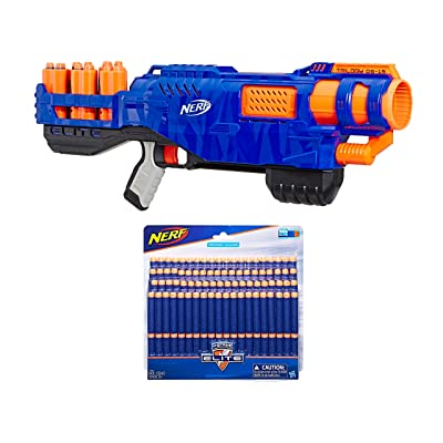 Nerf N-Strike Elite Trilogy DS-15 Toy Blaster with 15 Official Nerf Elite Darts bundle with Nerf N-Strike Elite Dart Refill, 100-Pack: Toys & Games