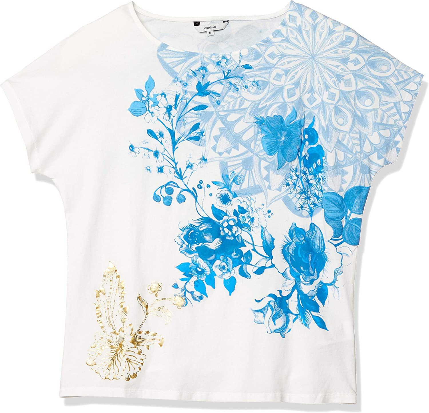 Desigual T-Shirt Donna TS Under 20swtkcs XS Bianco